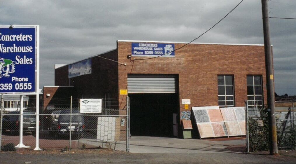 Concreters Warehouse History