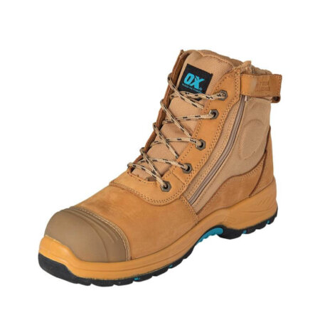 OX NUBUCK ZIPPER SAFETY BOOT
